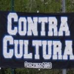 Contra Cultura (Weiß auf Schwarz)