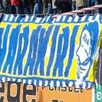 Harakiri (Blau auf Gelb)