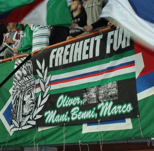 Freiheit für Oliver, Mani, Benni, Marco